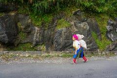 Mujeres de Hmong que venden verduras en la calle Fotografía de archivo