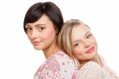 Mujeres de la belleza Imagen de archivo libre de regalías