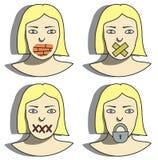 Mujeres de la boca de la pared Imagen de archivo