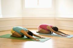 Mujeres de la clase de la yoga Fotos de archivo libres de regalías