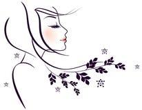 Mujeres de la elegancia libre illustration