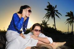 Mujeres de la manera del verano Imagenes de archivo