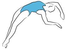Mujeres de la natación y del salto Foto de archivo libre de regalías