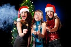 Mujeres de la Navidad Imágenes de archivo libres de regalías