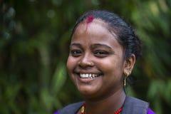 Mujeres de la sonrisa del retrato en Nepal Fotografía de archivo libre de regalías