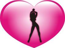 Mujeres de la tarjeta del día de San Valentín libre illustration