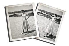 Mujeres de las fotos de la vendimia con los armas Imagenes de archivo