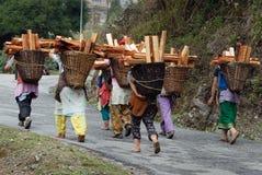 Mujeres de madera del colector Fotos de archivo libres de regalías