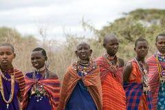 Mujeres de Msai Fotografía de archivo