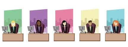 Mujeres de negocios del vector Foto de archivo