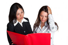 Mujeres de negocios en trabajo Foto de archivo