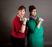 Mujeres de negocios maduras confiadas del tamaño extra grande Imagenes de archivo