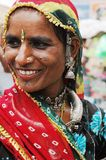 Mujeres de Rajasthán en la India. Imagen de archivo