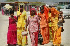 Mujeres de Rajasthán en la India. Fotografía de archivo libre de regalías