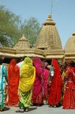 Mujeres de Rajasthán en la India. Foto de archivo
