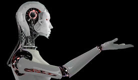 Mujeres del androide del robot Imagen de archivo libre de regalías