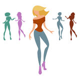 Mujeres del baile ilustración del vector