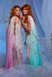 Mujeres del duende que llevan a cabo sus manos juntas Fotos de archivo