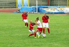 Mujeres del fútbol Fotografía de archivo