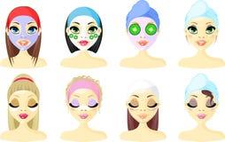 Mujeres del icono del avatar del balneario Foto de archivo