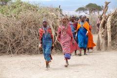 Mujeres del Masai Imágenes de archivo libres de regalías