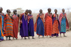 Mujeres del Masai Fotografía de archivo libre de regalías