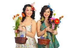 Mujeres del resorte de la belleza Foto de archivo libre de regalías