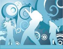 Mujeres del vector que bailan la ilustración Fotos de archivo