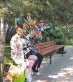 Mujeres del vendedor ambulante Fotos de archivo libres de regalías