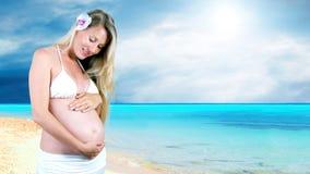 Mujeres embarazadas foto de archivo libre de regalías