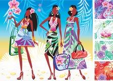 Mujeres en alineadas del verano Imagenes de archivo