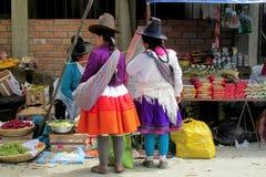 Mujeres en Bolivia y ropa y sombreros tradicionales de Perú foto de archivo libre de regalías