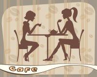 Mujeres en café ilustración del vector