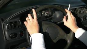 Mujeres en coche Fotos de archivo libres de regalías