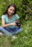 Mujeres en el jardín Fotos de archivo libres de regalías