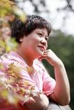 Mujeres en el otoño Imagen de archivo libre de regalías