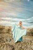 Mujeres en el vestido azul Imagen de archivo libre de regalías
