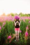 Mujeres en flores Imagen de archivo