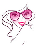 Mujeres en gafas de sol ilustración del vector