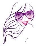 Mujeres en gafas de sol stock de ilustración