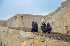 Mujeres en un hijab, Irán fotografía de archivo