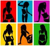 Mujeres en vector del bikiní 2 stock de ilustración
