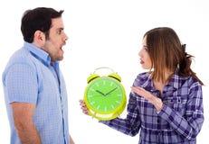 Mujeres enojadas en su novio Foto de archivo libre de regalías