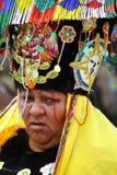 Mujeres enojadas en tocado colorido Imagen de archivo