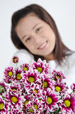 Mujeres felices en amor. Foto de archivo libre de regalías