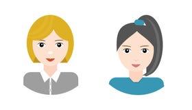 Mujeres hermosas, caracteres Imagenes de archivo