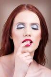 Mujeres hermosas con maquillaje agradable Foto de archivo libre de regalías