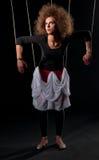 Mujeres hermosas de la muñeca con la línea de control Foto de archivo libre de regalías