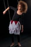 Mujeres hermosas de la muñeca con la línea de control Fotos de archivo libres de regalías