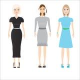 Mujeres hermosas en diversa ropa Fotografía de archivo